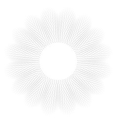 dynamic circle shape particles trendy abstract vector image