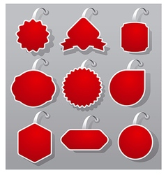 Empty advertising badges vector