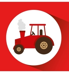 Farm countryside tractor design vector