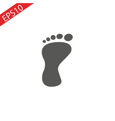 foot vector image
