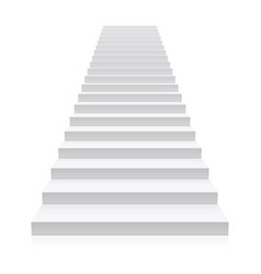 front view of white staircase vector image