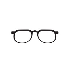 glasses graphic design template isolated vector image