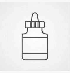glue icon sign symbol vector image