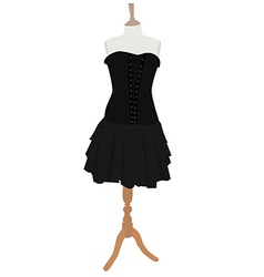 Gothic dress vector image