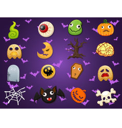Halloween icon collection set 1 vector