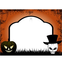Halloween tombstone copy space vector