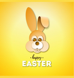 happy easter holiday design with nice rabbit face vector image
