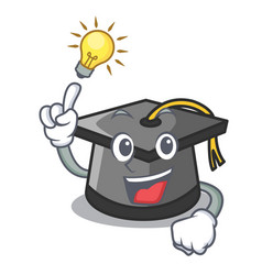 Have an idea graduation hat mascot cartoon vector