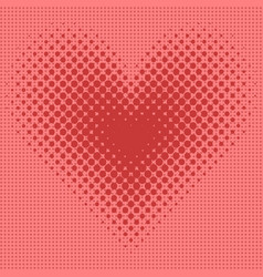 heart halftone background vector image