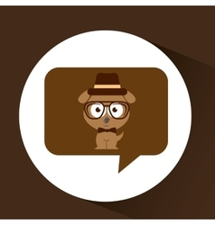 hipster doggy vintage icon graphic vector image