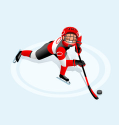 Hockey cartoon boy poster vector