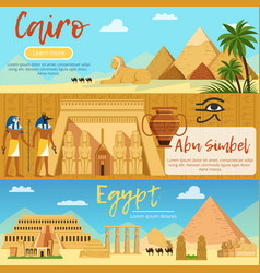 horizontal banners of egypt landscape vector image