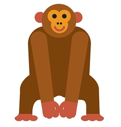 Icon chimpanzee monkey vector