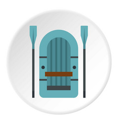 Inflatable boat icon circle vector