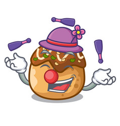 Juggling takoyaki shape in balls a cartoon vector