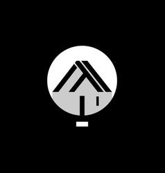 Letter t lamp interior furniture monogram logo vector