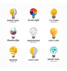 Light bulb - idea creative technology icons vector