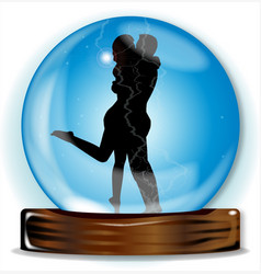 Love in the crystal ball vector