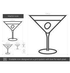 Martini line icon vector