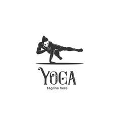 modern yoga silhouette logo vector image