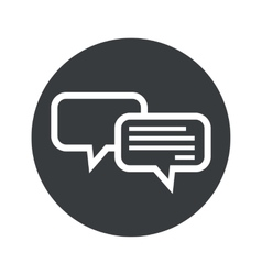 Monochrome round chatting icon vector image