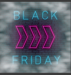neon black friday vector image