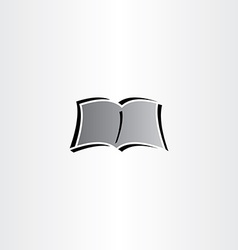 Newspaper book reading logo icon vector