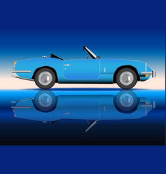 old style sports car vector image