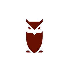 owl brown logo concept icon vector image