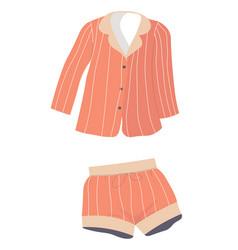 Pajama set shorts and shirt fashion and trends vector