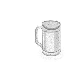 pint beer low poly design glass mug vector image