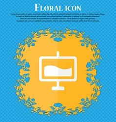 Presentation billboard Floral flat design on a vector