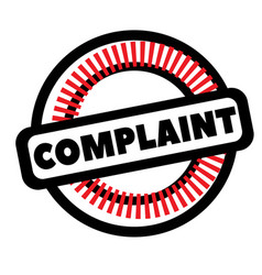 Print complaint stamp on white vector