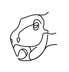 psittacosaurus icon doodle hand drawn or black vector image