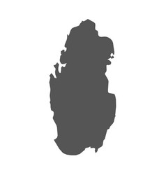 Qatar map black icon on white background vector