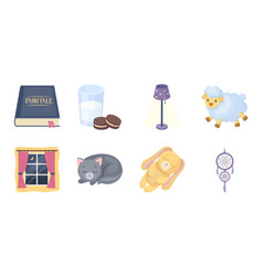rest and sleep icons in set collection for design vector image