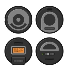 Robotic Vacuum Cleaner Icons Set vector