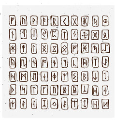 Set of old norse scandinavian carved in wood vector