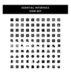 set page interface icon with glyph style design vector image