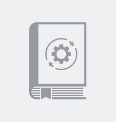 settings book flat icon vector image