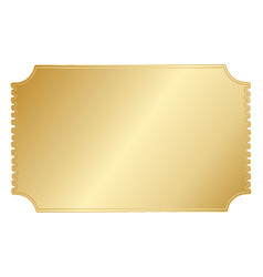 simple gold hand drawn border vector image