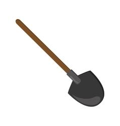 Single shovel icon vector