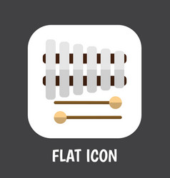 sound symbol on xylophone vector image