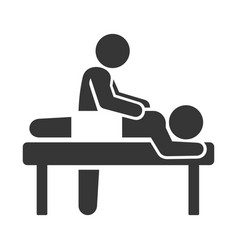 Spa massage icon on white background vector