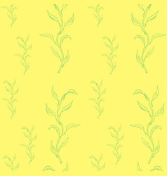 spring seamless with willow branches vector image