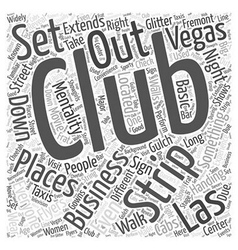 Strip Clubs of Las Vegas Word Cloud Concept vector