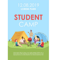 student camp brochure template outdoor picnic vector image