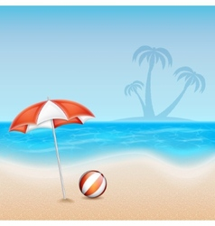 Summer background vector image