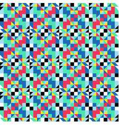 Symmetrical colorfull pattern geometric shapes vector
