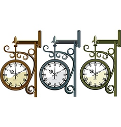 Three wall clocks vector image